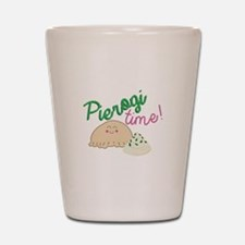 Pierogi Time Shot Glass