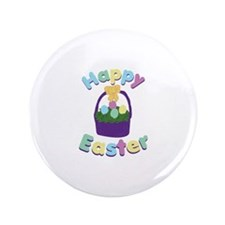"Happy Easter 3.5"" Button"