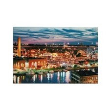 Cleveland Sunset Reflections  Rectangle Magnet