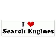 I Love Search Engines Bumper Bumper Sticker