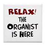 organist here Tile Coaster