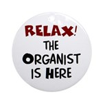 organist here Ornament (Round)