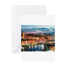 Cleveland Sunset Reflections Greeting Cards