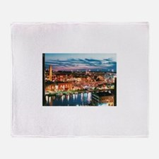 Cleveland Sunset Reflections Throw Blanket