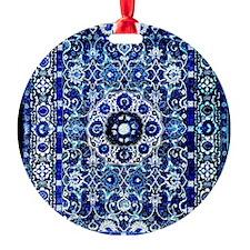 Oriental Rug Electric Blue Ornament