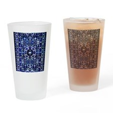 Oriental Rug Electric Blue Drinking Glass