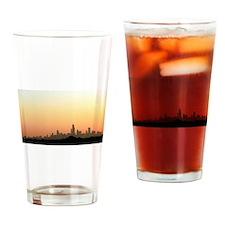 Sunrise over Chicago Drinking Glass