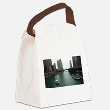 Chicago River in Downtown Chicago Canvas Lunch Bag