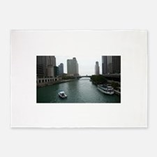 Chicago River in Downtown Chicago 5'x7'Area Rug