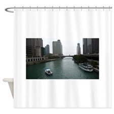 Chicago River in Downtown Chicago Shower Curtain