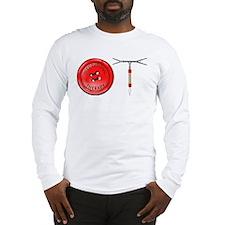 OT Button Design Long Sleeve T-Shirt