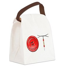 OT Button Design Canvas Lunch Bag