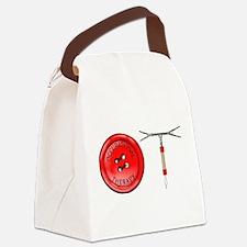 OT Button Design Canvas Lunch Bag