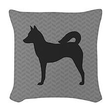 Canaan Dog Woven Throw Pillow