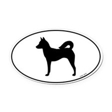 Canaan Dog Oval Car Magnet