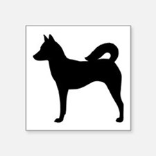 """Canaan Dog Square Sticker 3"""" x 3"""""""
