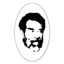 Hussein Face Oval Decal