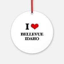 I love Bellevue Idaho Ornament (Round)