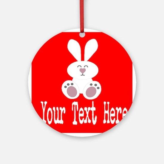 Personalizable Rabbit Ornament (Round)