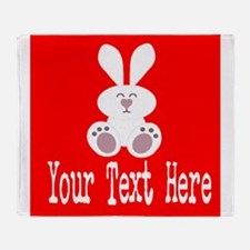 Personalizable Rabbit Throw Blanket