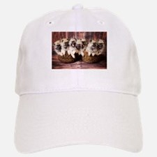 Puppies in baskets Baseball Baseball Cap