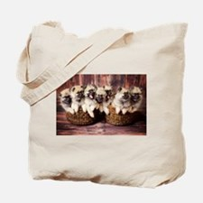 Puppies in baskets Tote Bag