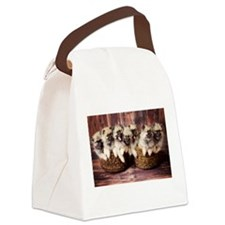 Puppies in baskets Canvas Lunch Bag