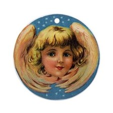 Angel Wings Design Ornament (Round)