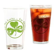 Kiss Me, I'm Part Irish Drinking Glass