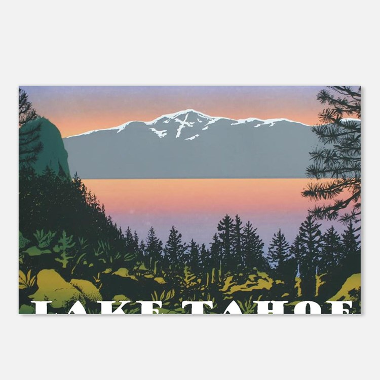 Mt. Tallac Lake Tahoe Postcards (Package of 8)
