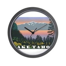 Mt. Tallac Lake Tahoe Wall Clock