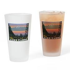 Mt. Tallac Lake Tahoe Drinking Glass