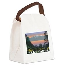 Mt. Tallac Lake Tahoe Canvas Lunch Bag