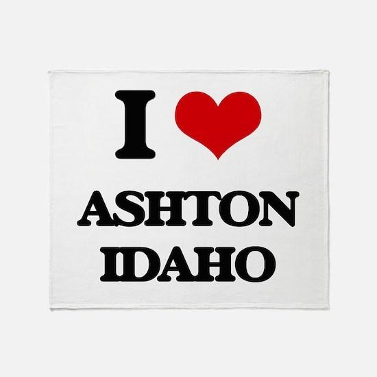 I love Ashton Idaho Throw Blanket