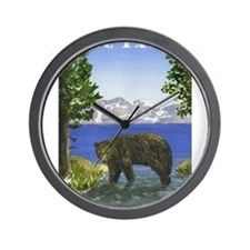 Lake Tahoe Bear Wall Clock