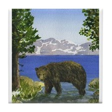 Lake Tahoe Bear Tile Coaster
