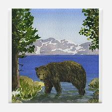 Lake Tahoe Bear Tile Coaster