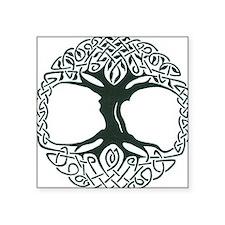 "Celtic Tree of Life Square Sticker 3"" x 3"""