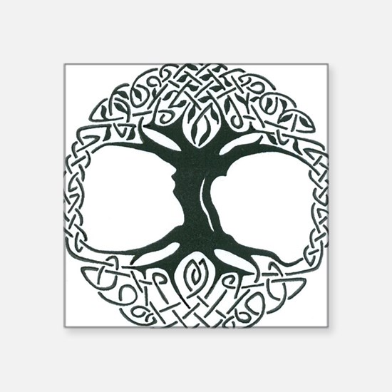 "Celtic Tree of Life Square Sticker 3"" x 3"""