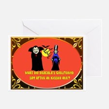Halloween Dracula Greeting Card