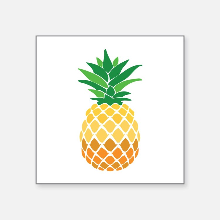 pineapple bumper stickers car stickers decals more. Black Bedroom Furniture Sets. Home Design Ideas