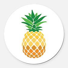 Pineapple Round Car Magnet