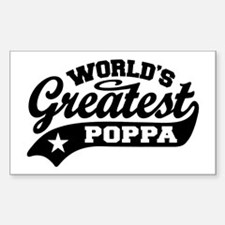 World's Greatest Poppa Sticker (Rectangle)