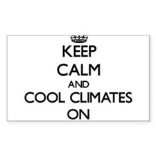 Keep Calm and Cool Climates ON Decal