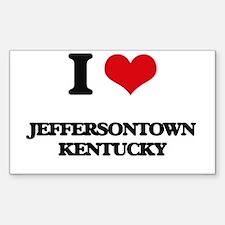 I love Jeffersontown Kentucky Decal
