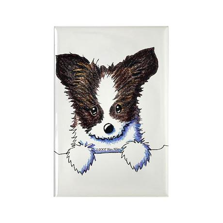 Pkt Papillon Puppy Rectangle Magnet (100 pack)