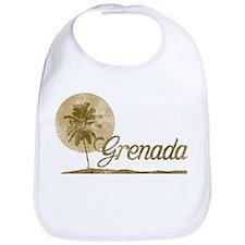 Palm Tree Grenada Bib