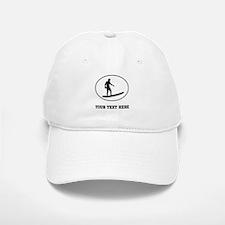 Surfer Silhouette Oval (Custom) Baseball Baseball Baseball Cap