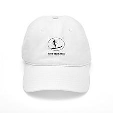 Surfer Silhouette Oval (Custom) Baseball Baseball Cap