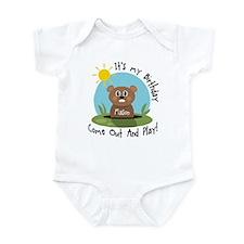 Mason birthday (groundhog) Infant Bodysuit